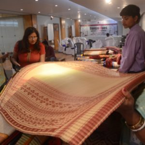 Gouri Rani Jana interacting with interior designers