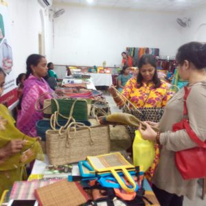 Sankari Jana and Lakkhi Sahu at the Lifestyle Exhibition-cum-Sale at Ashutosh Memorial Hall
