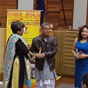 Nishikanta Das being felicitated